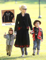 Gwen Stefani's son, Zuma, wearing our Rockabilly tee