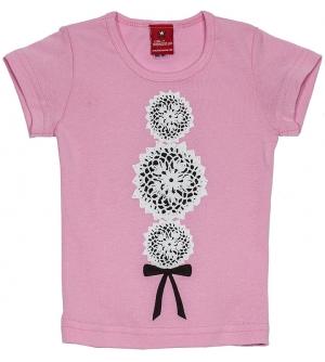 'DOILY ROCKER' Kids T-shirt | Girls pink delicate style t-shirt
