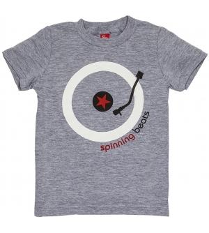 'SPINNING BEATS' Kids T-Shirt Short Sleeve - Heather Grey