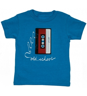 OLD SCHOOL Kids T-Shirt Short Sleeve- Neon Blue