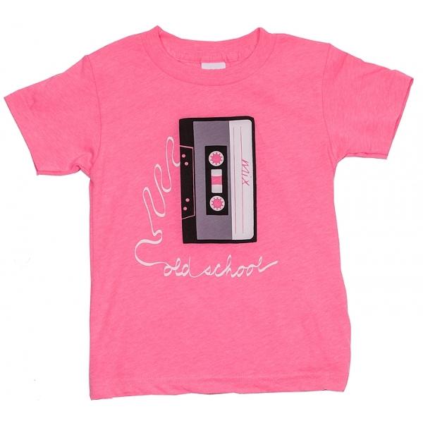 Old school neon pink little trendstar shop for Short sleeve school shirts