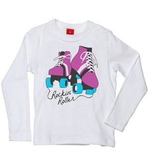 'ROCKIN' ROLLER' Kids T-shirt Long Sleeve