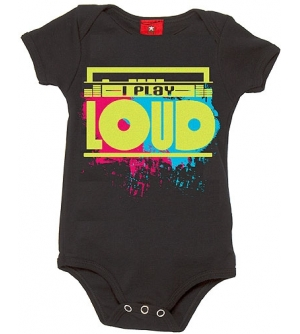 I PLAY LOUD  Baby onesie