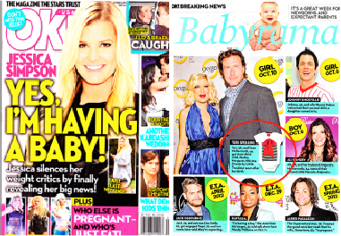 Ok! Magazine: Features our BENATAR baby onesie