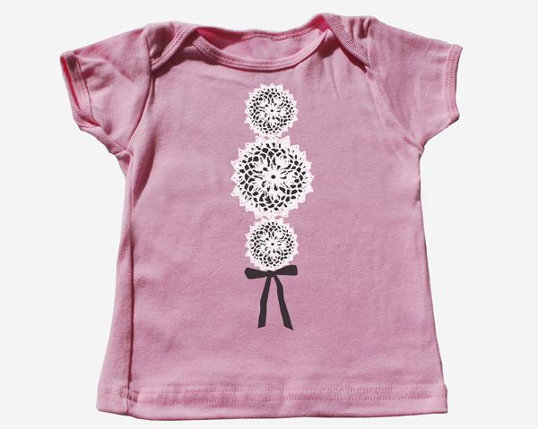 """""""Crochet"""" Baby Tee Shirt"""