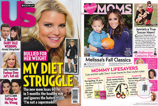 Us Weekly Magazine features Clash t-shirt