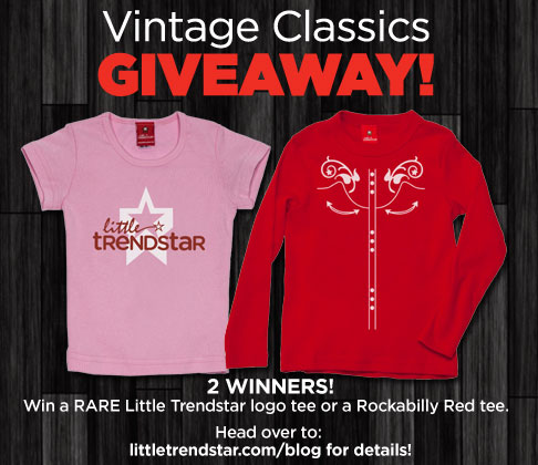 giveaway image GIVEAWAY! 2 Vintage Little Trendstar t shirts up for grabs!